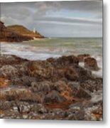 Bracelet Bay And Mumbles Lighthouse Metal Print