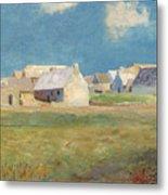 Breton Village Metal Print