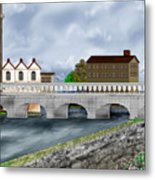 Bridge In Old Galway Ireland Metal Print
