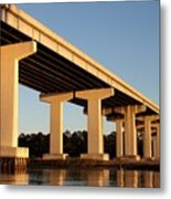 Bridge Pilings Metal Print
