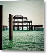 Brighton West Pier Metal Print