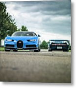 Bugatti Chiron And Vision Gt Metal Print