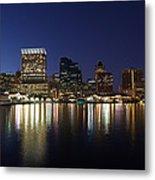 Buildings At The Waterfront, Inner Metal Print