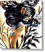 Butterfly Sketch Metal Print