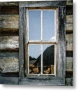 Cabin Window Metal Print