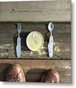 Canned Meal At A Camping Trip Metal Print