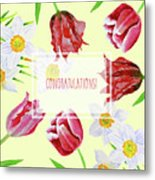 Card With Spring Flowers Metal Print