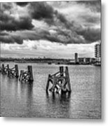 Cardiff Bay Panorama Mono Metal Print