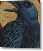 Caw Metal Print by Amy Reisland-Speer