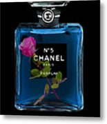 Chanel With Rose Metal Print