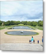 Chantilly Castle Garden In France Metal Print