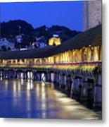 Chapel Bridge Or Kapellbrucke, Lucerne, Switzerland Metal Print