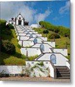 Chapel In Azores Islands Metal Print