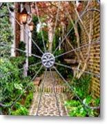 Charleston Gated Garden Metal Print