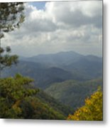 Cherohala Skyway In Autumn Color Metal Print