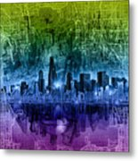 Chicago Skyline Abstract Metal Print