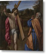 Christ Appearing To Saint Peter On The Appian Way Metal Print