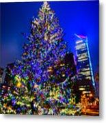 Christmas Tree Near Panther Stadium In Charlotte North Carolina Metal Print