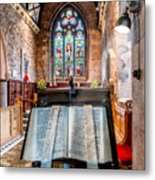 Church Interior Metal Print