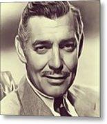 Clark Gable, Vintage Actor Metal Print