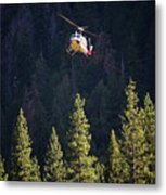 Climber Rescue Operation In Yosemite Metal Print