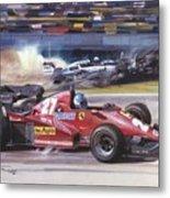 Cma 081 1983 San Marino Gp Imola Patrick Tambay In Ferrari Roy Rob Metal Print
