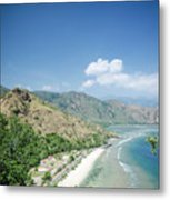Coast And Beach View Near Dili In East Timor Leste Metal Print