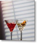 Cocktails At The Bar Metal Print