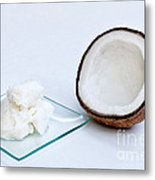 Coconut Oil And Coconut Metal Print