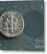 Coin Containing Silver Inhibits Metal Print