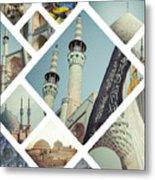 Collage Of Iran Images Metal Print