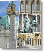 Collage Of Vienna Metal Print