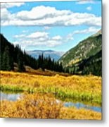 Colorado Mountain Lake In Fall Metal Print