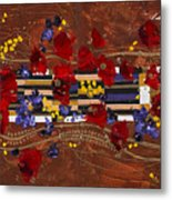 Colourful Abstract Painting Metal Print