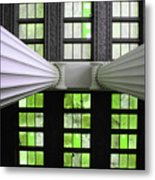 2 Column Stain Green Metal Print