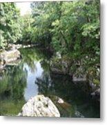 Conwy River Near Betws Y Coed.  Metal Print