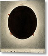 Corona Of The Sun During Total Eclipse Metal Print