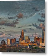 Cotton Candy Sky Over Charlotte North Carolina Downtown Skyline Metal Print
