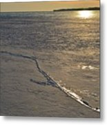 Cracks In The Ice  Metal Print