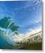 Crashing Wave Tube Metal Print
