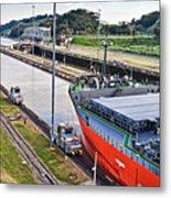 Crossing Panama Canal Metal Print