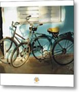 2 Cuban Bicycles Metal Print