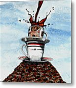 2 Cups Coffee Metal Print