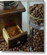 Daily Grind Coffee Beans Metal Print