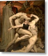 Dante And Virgil In Hell  Metal Print