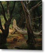 Departure For The Hunt In The Pontine Marshes Metal Print