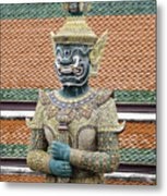 Detail From A Buddhist Temple In Bangkok Thailand Metal Print