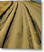 Dirt Road Winding Metal Print