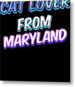 Dog Lover From Maryland Metal Print