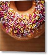 Donut And Sprinkles Metal Print